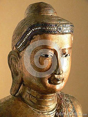 Buddha: golden Burmese sculpture