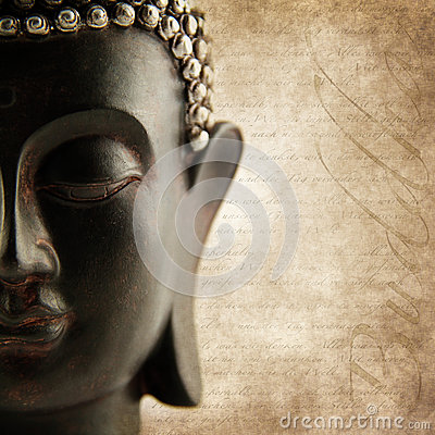 Buddha grunge words
