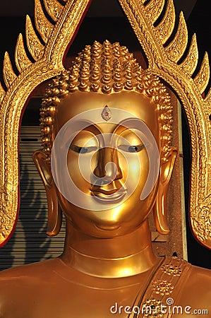 Free Buddha Head Brass Aura Royalty Free Stock Photos - 13124028