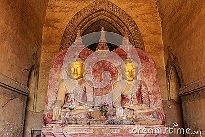 Buddha image , Bagan in Myanmar (Burmar)