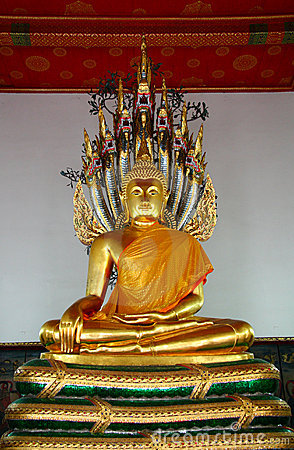 Buddha image in church of Wat Pho