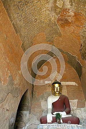 Buddha in Burmese Temple