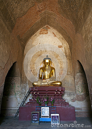 Golden Buddha in Burmese Temple