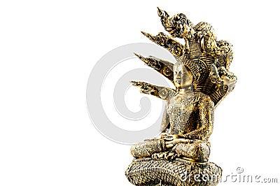 Buddha image with naga