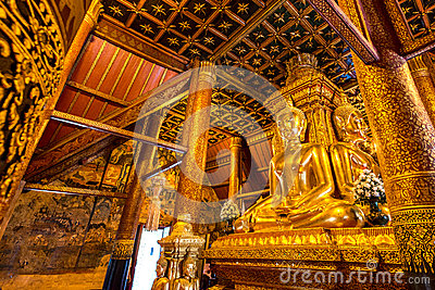 Buddha Image in Northern Temple of Thailand