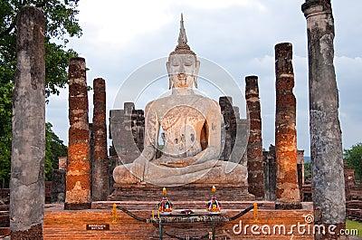 Buddha image in Sukhothai historical park