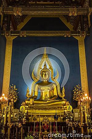 Buddha image ,wat Benchamabophit temple , Bangkok in Thailand