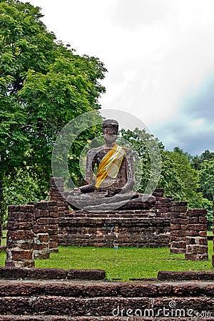Buddha image in Wat Phra Kaeo, Kamphaeng Phet Hist