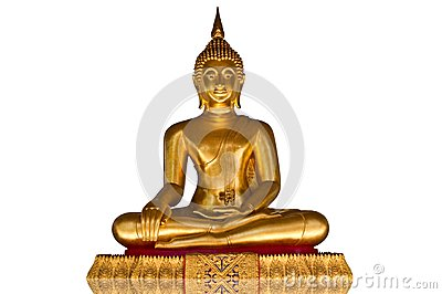 Buddha image on the white background