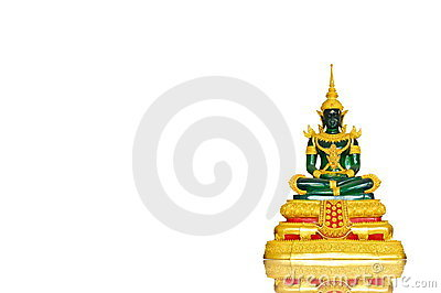 Buddha  image on a white background