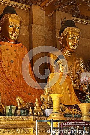 Buddha Images - Shwedagon Pagoda - Yangon - Myanmar