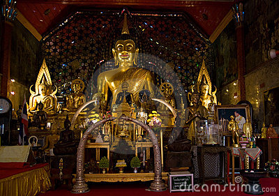 Buddha images at Wat Phrathat Doi Suthep, Thailand