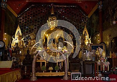 Buddha images at Wat Phrathat Doi Suthep, Thailand