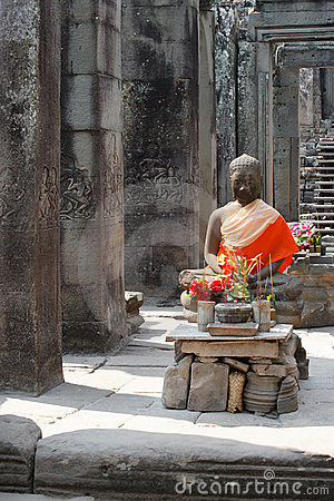 Free Buddha In Angkor Royalty Free Stock Image - 4053376