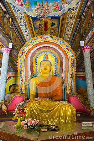 Free Buddha In Bandarawela Buddhist Temple On Sri Lanka Stock Photography - 115242502