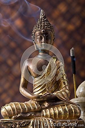 Buddha With Incense Stick