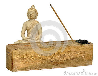 Buddha And Incense Stick Box