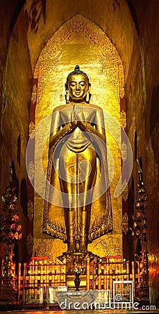 Free Buddha Inside Ananda Temple, Bagan, Royalty Free Stock Photo - 6490365