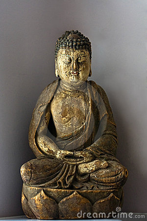 Buddha in lotus position