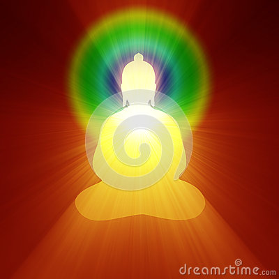 Buddha meditation inner light halo