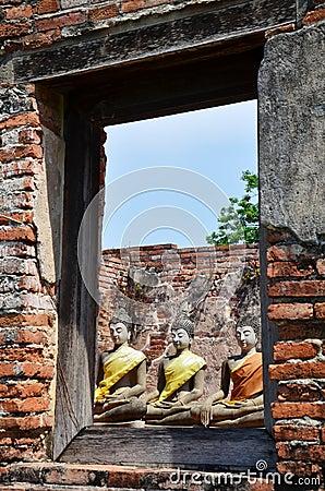 Buddha of Putthaisawan Temple  Ayutthaya , Thailand