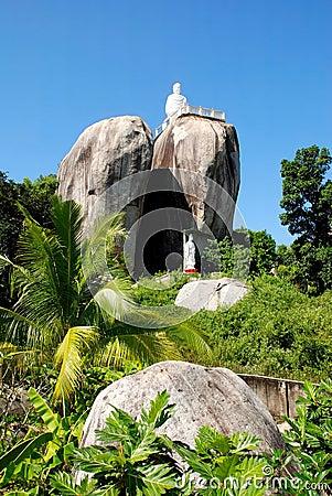 Buddha on the rock