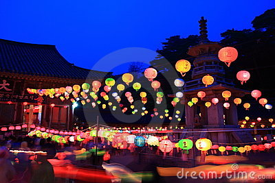 Buddhas birthday. South Korea