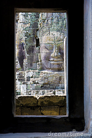 Buddha s Face at Bayon Temple, Cambodia
