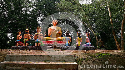 Buddha and sacred god statues