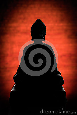 Buddha-Schattenbild