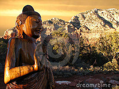 Buddha Sedona Sunset