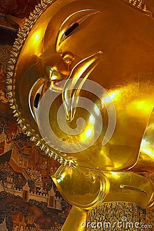 Buddha sleep and look