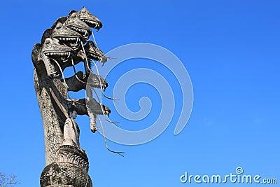 Buddha and snake statue