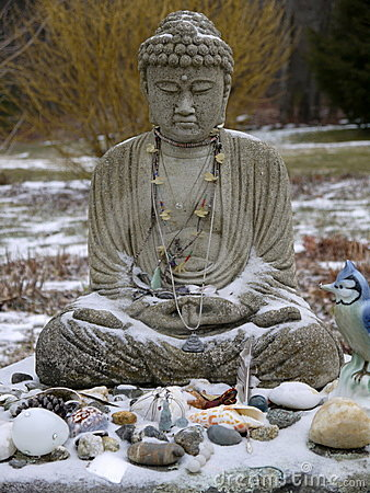 Buddha: snow offerings