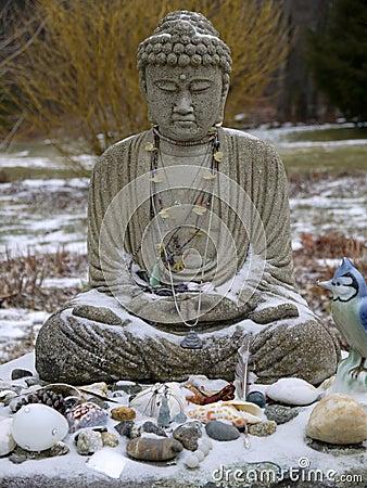 Buddha: snow offerings