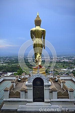 Buddha standing on a mountain Wat Phra That Khao Noi, Nan Provin