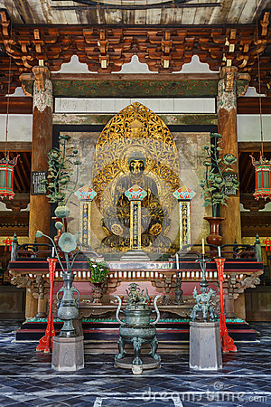 Free Buddha Statue In The Butsuden Hall (Buddha Hall) At Daitoku-ji Temple In Kyoto Royalty Free Stock Photo - 47755495