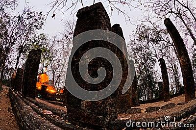 Buddha statue in Sukhothai Historical Park