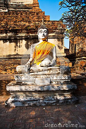 Buddha statue at temple of Wat Mongkol