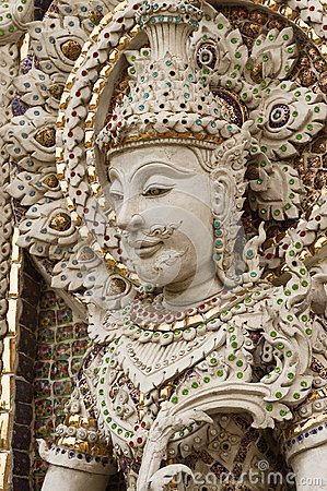 Buddha statue in Thai style molding art.
