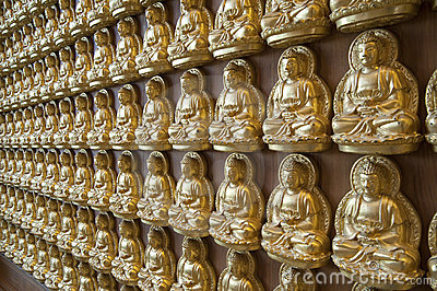 Buddha statue on the wall