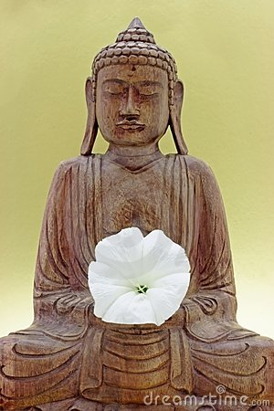 Buddha statue from wood