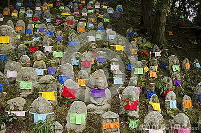 Buddha statues at Kiyomizu Temple in Kyoto, Japan Editorial Image