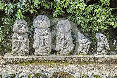 Buddha Statues Of The Tenryuji Zen Temple At Arashiyama Kyoto Japan 2015 Editorial Stock Photo