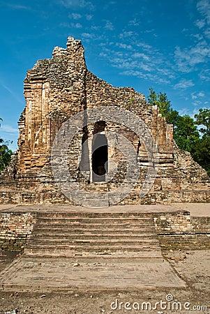 Buddha status in thai old site