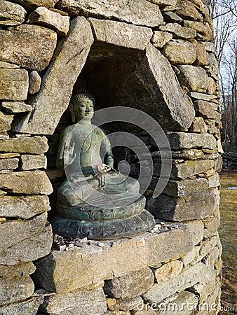 Buddha: stone stupa niche