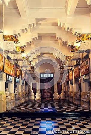Buddha Temple Indoor, Kandy, Sri Lanka