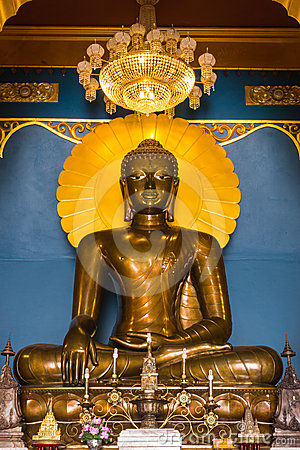 Buddha in a temple of Thailand