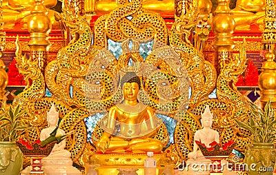 Buddha and Thai naga style.