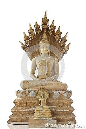 Buddha and Thai naga style